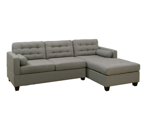 Bobkona Sectional Set, Grey
