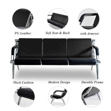 Load image into Gallery viewer, Modern PU Leather Sofa 3-Seat