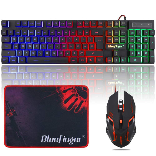 RGB Gaming Keyboard and Backlit Mouse Combo