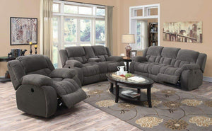 Coaster Motion Love seat with Cup holders and Storage Charcoal