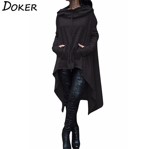 Autumn Winter Long Hoodies Sweatshirts In Plus Size