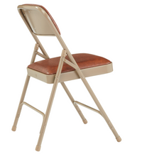 1200 Series Premium Vinyl Upholstered Double Hinge Folding Chair