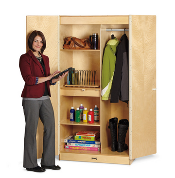 Teachers Wardrobe with Trays and Locking Door