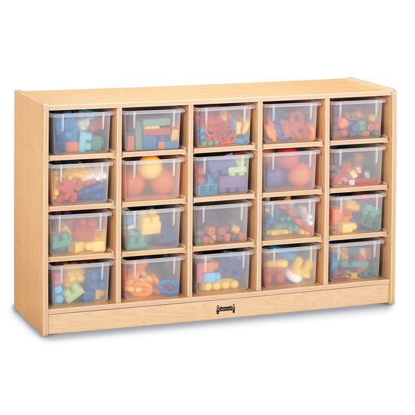 Cubbie-Tray Mobile Storage - with Clear Trays