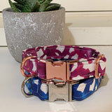 'Pink Loops Watercolour' Dog Collar