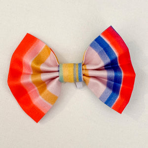 'Candy Stripes' Dog Bow Tie and Fur Clip Bows