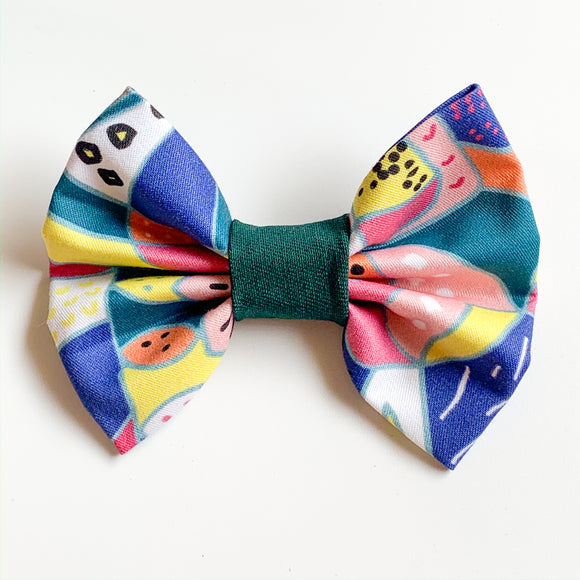 'Deep Water' Dog Bow Tie and Fur Clip Bows