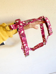 'Pink Loops Watercolour' H Strap Harness