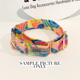 'How I Feel About Spring' Martingale Dog Collar