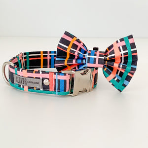 'Summer Tartan' Dog Collar