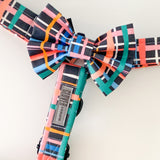 'Summer Tartan' Dog Bow Tie and Fur Clip Bows