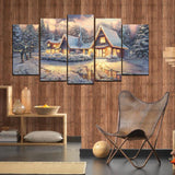 5 Split 3D Wall Frame - Digitally Printed Landscape(AJ-022)