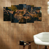 5 Split 3D Wall Frame - Digitally Printed Landscape(AJ-023)