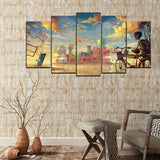 5 Split 3D Wall Frame - Digitally Printed Landscape(AJ-024)