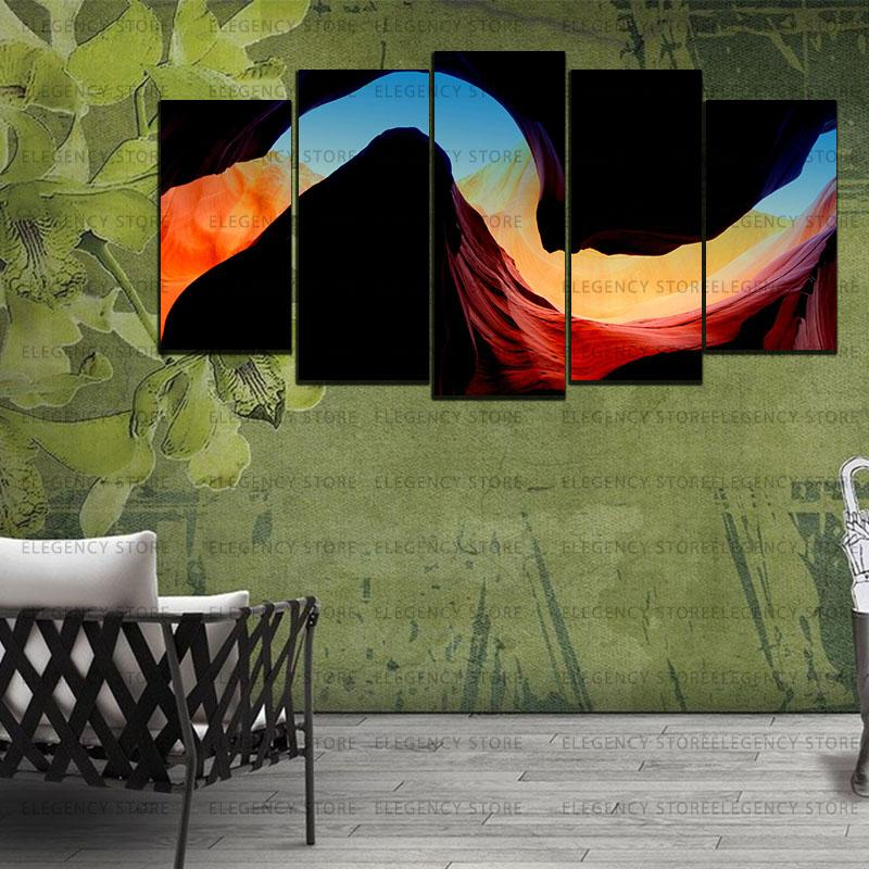 5 Split 3D Wall Frame - Digitally Printed Landscape(AJ-038)