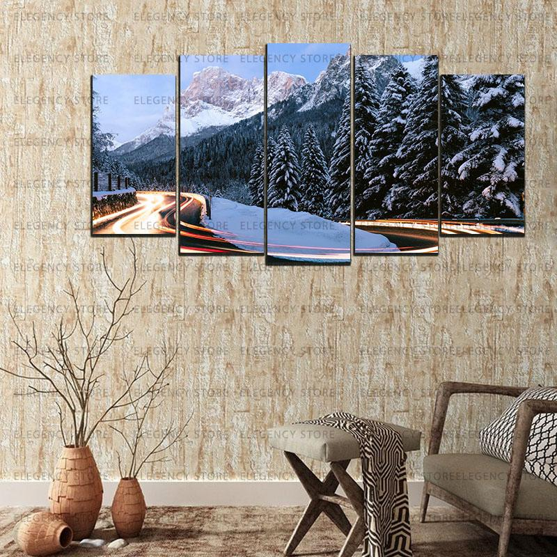 5 Split 3D Wall Frame - Digitally Printed Landscape(AJ-043)