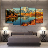 5 Split 3D Wall Frame - Digitally Printed Landscape(AJ-06)
