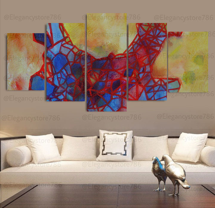 Abstract Wall Art Frames 5 Spliters