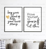 Inspiration Quotes Frame (2PCS)