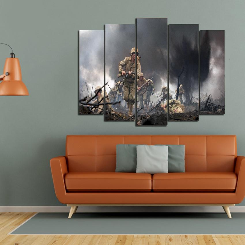 5 PCS ARMY WALL FRAMES