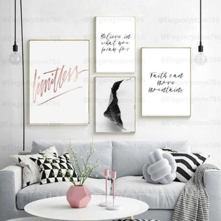 Inspiration Quotes Frame (4PCS)