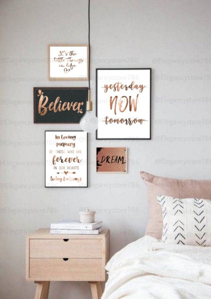Inspiration Quotes Frame (5PCS)