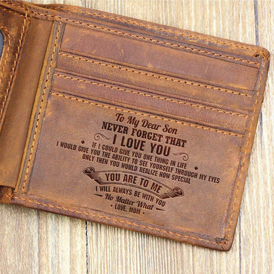 Mom To Son - I Will Always Be With You - Bifold Wallet