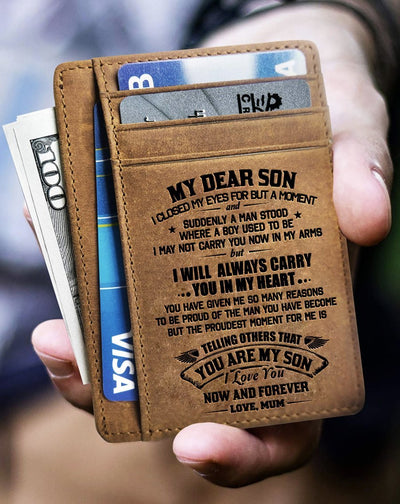 Card Wallet - Mum To Son, I Love You Now And Forever