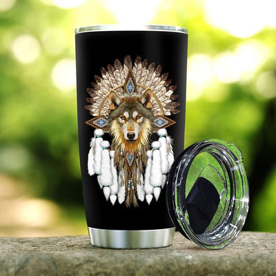 Native Wolf - Tumbler Best Gift for Birthday, Christmas