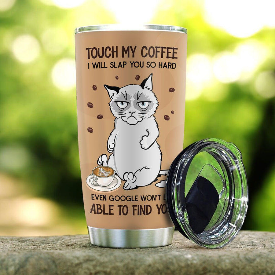 Siamese Cat Need Coffee Personalized Tumbler  - Best Gift for Birthday, Christmas