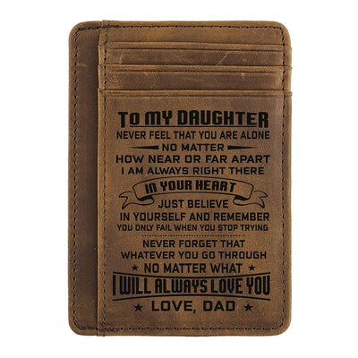 Card Wallet - Daughter, Dad Will Always Love You