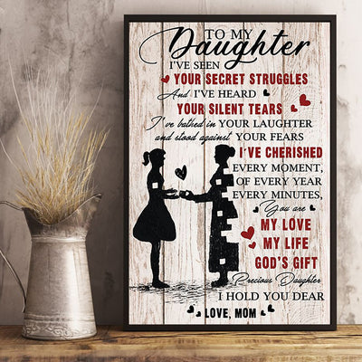 Mom To Daughter - My Love, My Life, God's Gift  - Vertical Poster