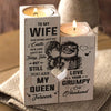 Husband to Wife - you are my queen forever - Candle Holder