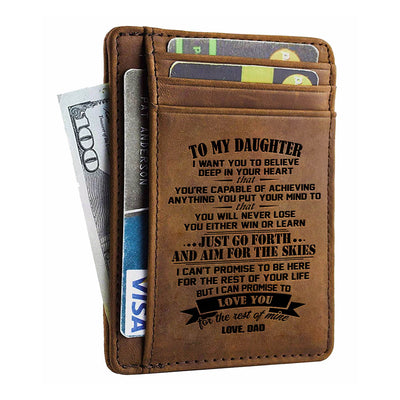 Dad To Daughter - Go Forth And Aim For The Skies - Card Wallet