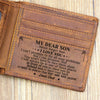 Dad To Son - You Are Not Alone - Bifold Wallet