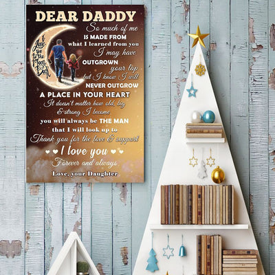 Daughter To Dad - Thank You For The Love And Support - Vertical Matte Posters