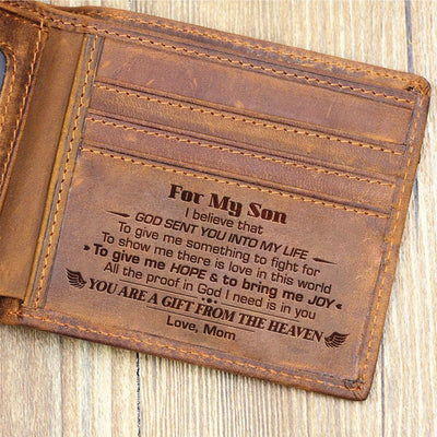 Mom To Son - You Are A Gift From Heaven - Bifold Wallet