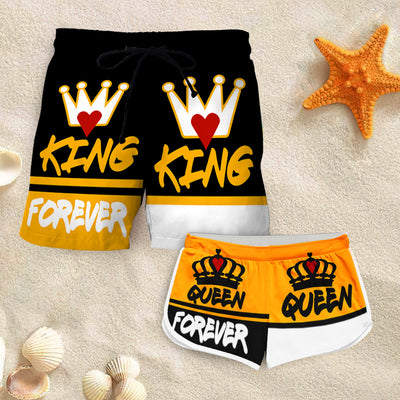 Couple Matching - Forerver King & Queen - Shorts