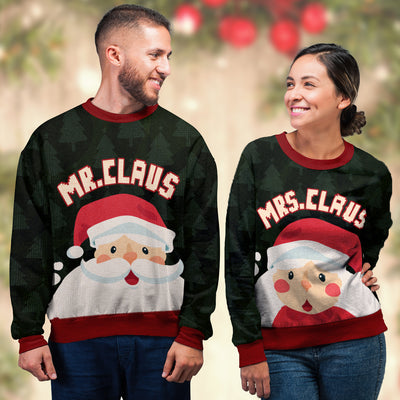 Mr Claus - Mrs Claus - Couple Sweatshirt