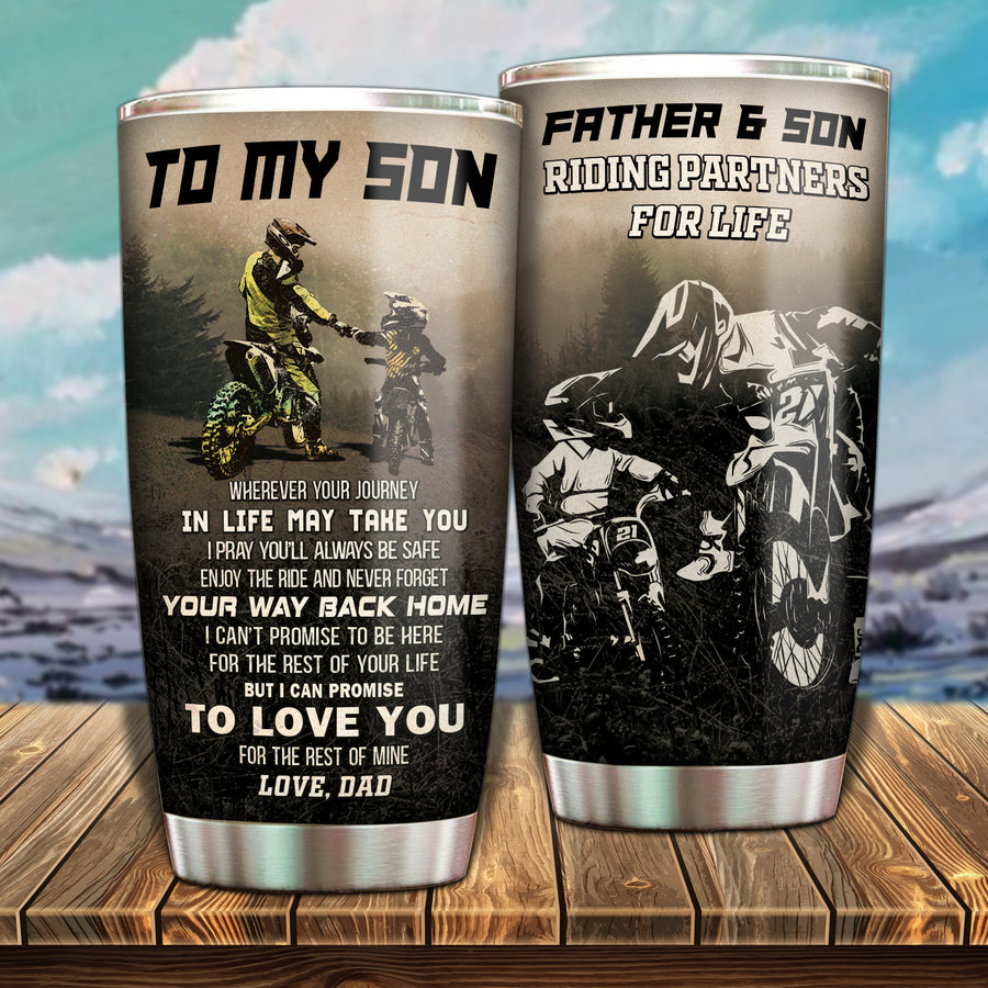 To My Son - Riding Partners - Tumbler