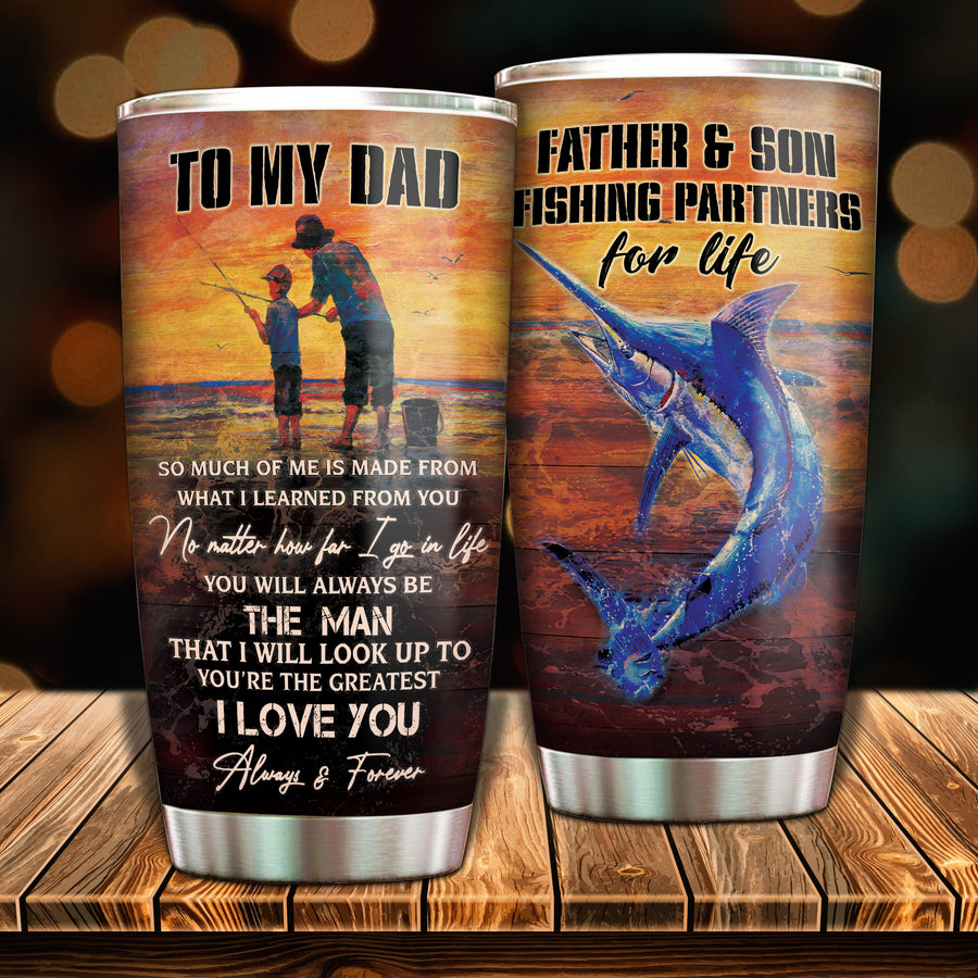 To My Dad - Fishing Partner For Life - Tumbler