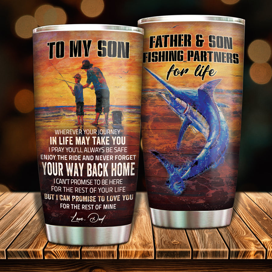 To My Son - Fishing Partner For Life - Tumbler