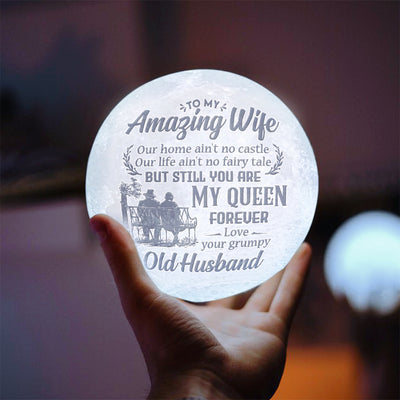 Husband To Wife - My Queen Forever - Moon Lamp