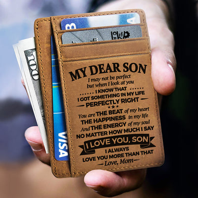 Mom to Son - The Energy Of My Soul - Card Wallet