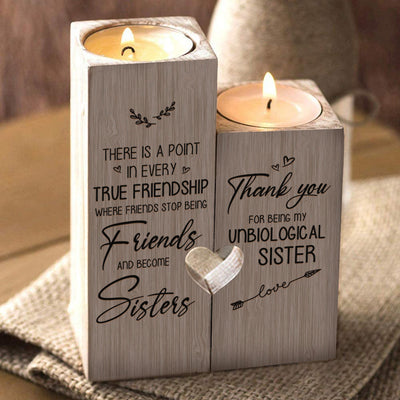 To My Bestie - Thank you for being my unbiological sister - Candle Holder