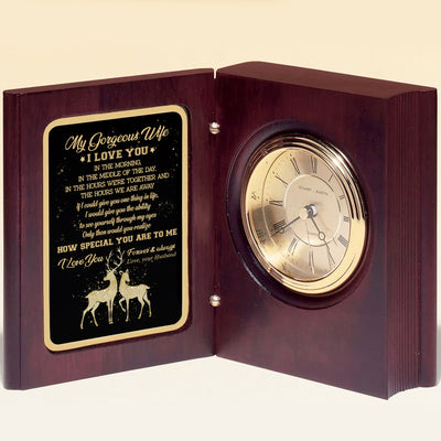 Husband To Wife - Would You Realize How Special You Are To Me  - Wooden Book Clock