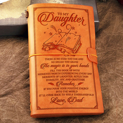 Dad To Daughter - The magic is in your hands - Vintage Journal