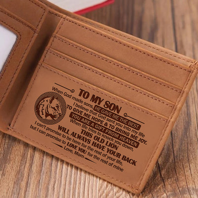 Mom to Son -  When God Made Sons, He Gave Me The Best - Bifold Wallet