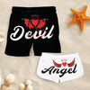 Couple Matching - Angel And Devil - Shorts
