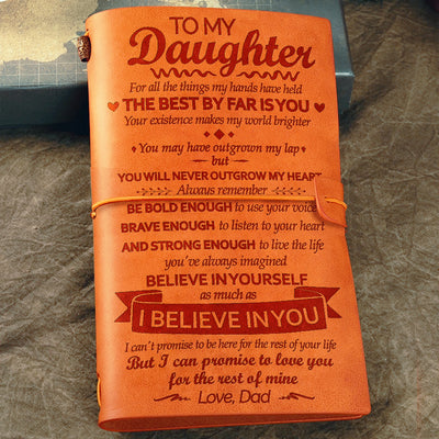Dad to Daughter - Your Existence Makes My World Brighter - Vintage Journal